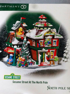 Dept 56 North Pole Village Sesame Street At The North Pole Nib