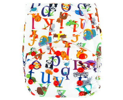 Absolutely Baby All-In-Two Velcro Nappy - Alphabet
