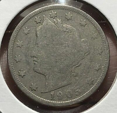 1905 Liberty V Nickel. Nice Collector Coin For Your Collection. 1