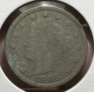 1905 Liberty V Nickel. Nice Collector Coin For Your Collection. 11