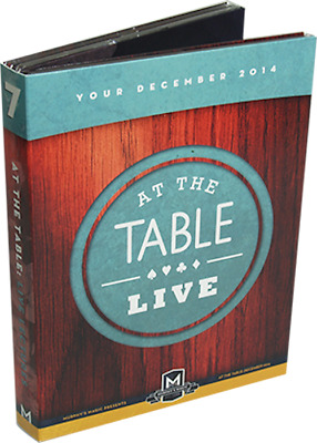 At the Table Live Lecture December 2014 (4 DVD set) ships from Murphy's Magic