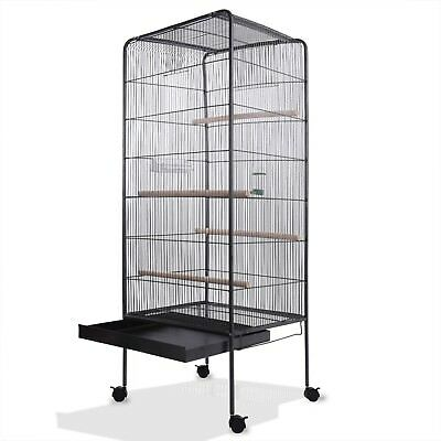 Large Bird Aviary Cage 5ft Metal Steel Birdcage Parrot Stable Budgerigar House
