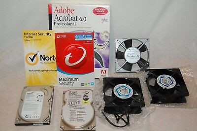 Software Acrobat 6.0 New Norton 3 Computer Fans 2 Seagate Hard Drive Cable Lock