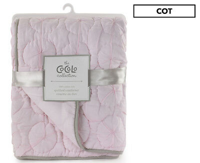 CoCaLo 91x114cm Quilted Comforter - Petal Pink