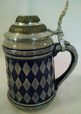 """5"""" German Stein with Pewter Lid"""