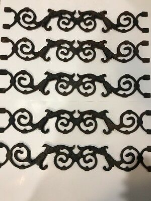 Antique Cast Iron Fence Stanchions Ornate Widow's Walk Architectural Salvage