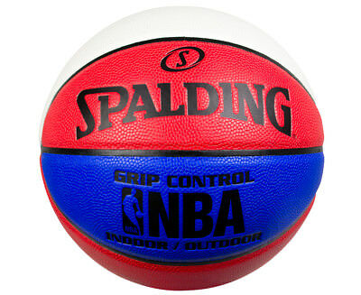 Spalding Size 6 NBA Grip Control In/Out Basketball  - Red/White/Blue