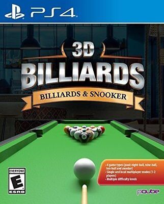 3D Billiards:Billiards & Snooker (Sony PS4) Fun Family Game Region Free New