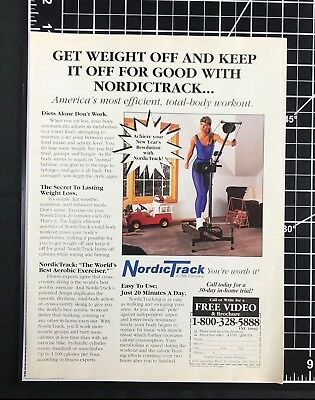 1992 NordicTrack Exercise Machine Vintage Print Ad