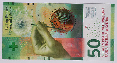 ***One Swiss Switzerland New Design 50 Francs Banknote Currency***