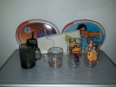 Vintage Mcdonald's Collectibles Promotional Cups And Plates