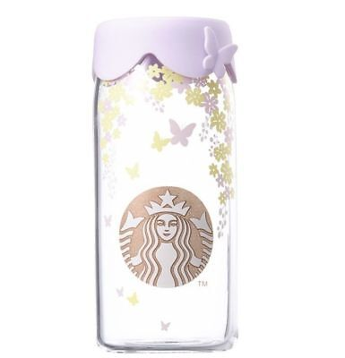 Starbucks Korea 2018 Spring Flower Silicone Glass Cold Cup 473ml/ 16oz
