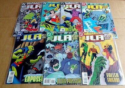 "LOT OF 7 x  NEW/UNREAD DC COMICS ""JLA YEAR ONE""  COMICS; No 1,5,6,7,8,9,10  1998"