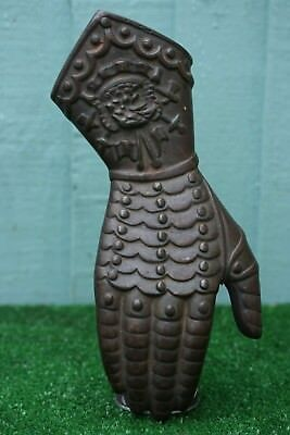 Superb Antique Gothic Cast Iron Architectural Decorative Knights Gauntlet