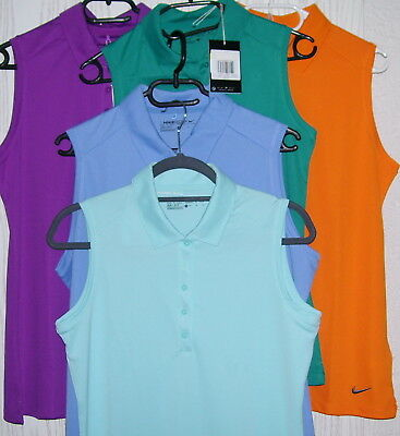 NIKE Golf Poloshirt Golf Polo ärmellos diverse Farben  dri-Fit Stay Cool Toll