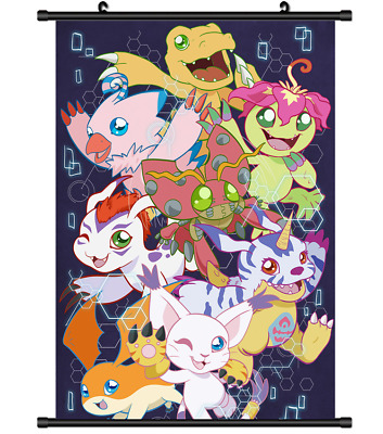 "Hot Japan Anime Digimon Adventure Poster Wall Scroll Home Decor 8""×12"" FL1028"