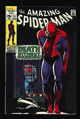 """Amazing Spider-Man #75 FN+ OW/W pgs """"Death"""" of Silvermane Original owner collect"""