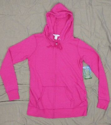 Motherhood Insect Shield Womens Maternity Pink Hoodie Zip Jacket SZ S ~ New!