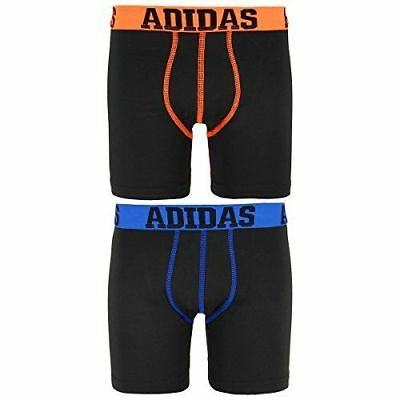 adidas 2-pack Performance Long Boxer Briefs Boy's size M  Black  #5590