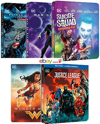 Dc Comics 5 Steelbook Collection (7 Blu-Ray) Justice League - Art By Jim Lee