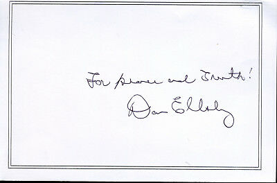 Dan Ellsberg Released The Watergate Papers Autograph Quote Signed