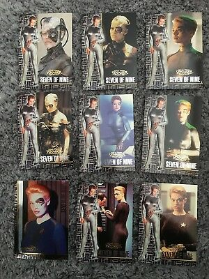 1998 Star Trek Voyager Profiles Seven of Nine Chase Card Set (All 9 Cards)