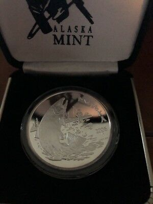 2006 Alaska Mint Fishing 1 Oz Silver Coin Medal