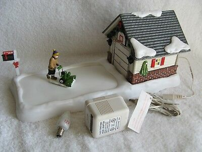 DEPT 56 - SV - CLEARING THE DRIVEWAY AGAIN! - Animated - Works Great - No Box