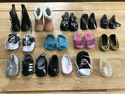 American Girl Big Lot of Shoes and Boots - 9 Pairs, 7 Singles