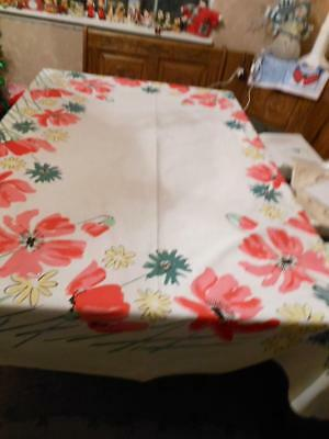 Vintage 1950's Beautiful Vera Floral Tablecloth----50 by 66---SAle!