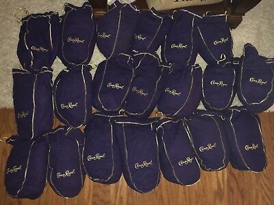Crown Royal Large Putple & Gold 750ml Bags, Lots Of 10