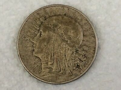 1934 Poland 5 Zlotych Silver Coin Radiant Queen Jadwiga Nice Ready For Grading