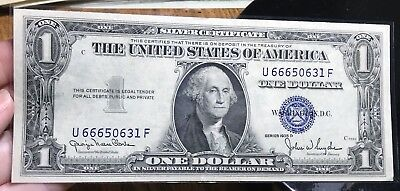 1935 D $1 Dollar Bill Old Us Paper Money Currency Blue Seal Collector Note.0631F