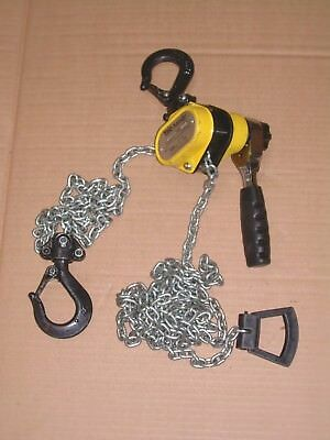 Lever Hoist, Pull Lift, Yale 'Handy', SWL 500kg, 3.4m Lift, Compact, Used Once