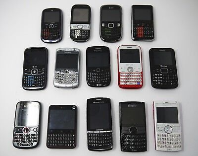 Lot of 14 BlackBerry / QWERTY Phones - Includes Working BlackBerry Curve