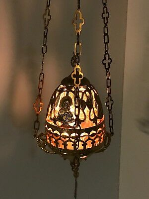 Antique Russian Orthodox Icons Lamp Lampada 19th century.