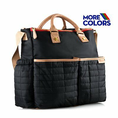 Diaper Bag, Nappy Bag by Maman - with Matching Changing Pad - Stylish Designer -