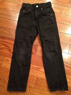 Levi Strauss Youth 550 Relaxed Fit Size 7X Black Denim Jeans