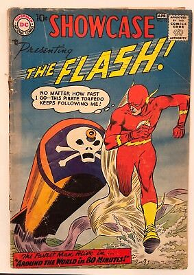 1958 DC SHOWCASE #13 3rd Silver Age FLASH cover detached