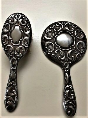 Antique 830 Silver Vanity Set