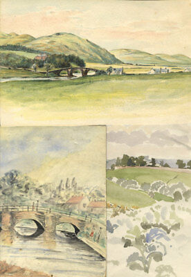 Set of 3 Early 20th Century Watercolours - Landscapes