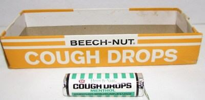 1960's Beech-Nut Menthol Cough Drops, unopened pack with display box