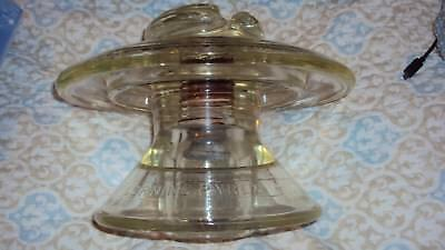Large Corning Pyrex Two Tier Insulator 441 Made in USA Clear glass