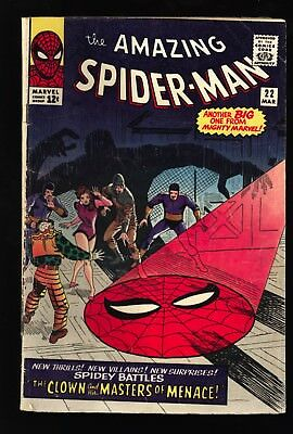 Amazing Spider-Man #22 GD OW pgs 1st Princess Python/Ringmaster and Circus of C