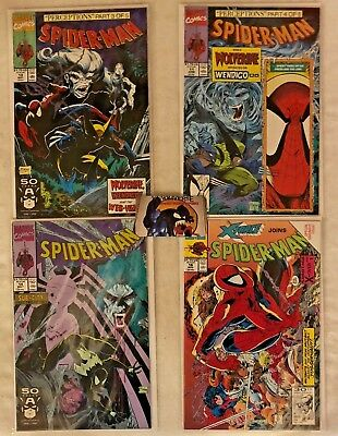 Lot of 4 Spider-Man Comics Todd McFarlane Covers VF/NM #10 #11 #14 #16 Marvel
