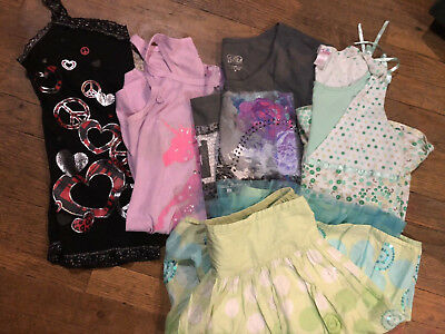 Lot Justice Skirt Tops Nightgown Girl's Size 16-18