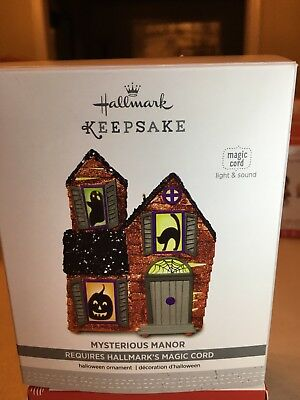 Hallmark Keepsake Halloween Ornament 2017 Mysterious Manor Magic Cord