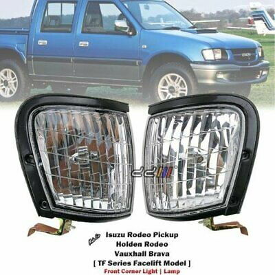 NEW Front Clear Indicator Corner Light Lamp Set For Holden Rodeo TF 1998-02