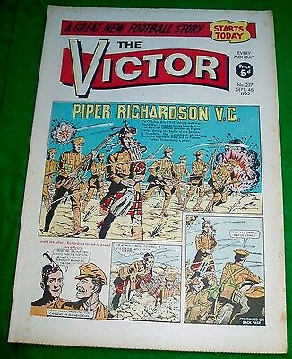 Manitoba Regiment At The Somme Richardson V.c.  Ww1 Cover Story In Victor 1965