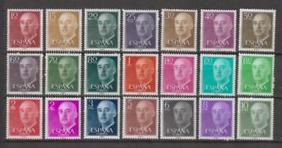 Spain (1955) Mnh New Free Stamp Hinges Spain - Edifil 1143/63 Franco